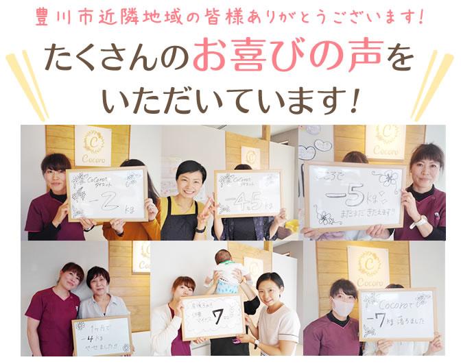 豊川市の皆様よりたくさんのお喜びの声をいただいています!