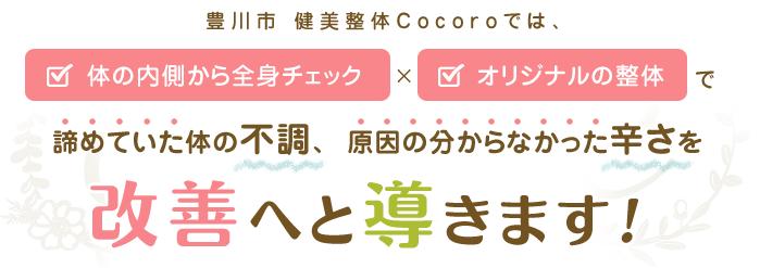 豊川市 健美整体cocoro